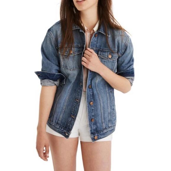 Madewell Refit Denim Oversized Trucker Jacket